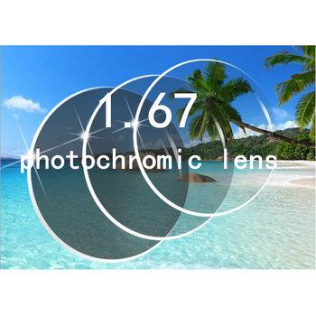 MINCL 1 67 okulary dla osób z krótkowzrocznością soczewki żywicy soczewki soczewki fotochromowe okulary-gyw tanie i dobre opinie UV400 Kobiety Z tworzywa sztucznego Okrągły Dla dorosłych