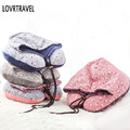 LOVRTRAVEL Slow Rebound Memory Foam Pillow For Office Flight Traveling Neck Cushion for Sleep Outdoor Travel Pillows With Hat