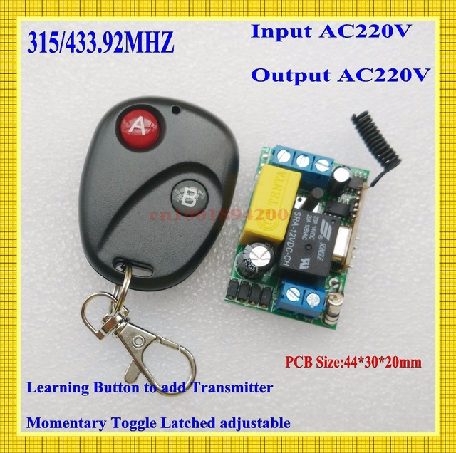 ac220v mini size radio remote control lighting power on off switches