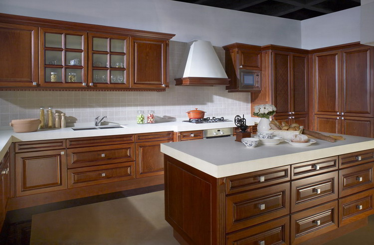 Kitchen cabinets solid cherry wood-in Kitchen Cabinets from Home ...
