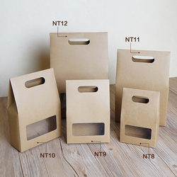 10pcs free shipping diy gift holder vintage nature kraft cardboard hand bag clear window gift sweet.jpg 250x250