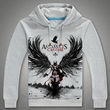 2016 neueste anime hoodie lässige Hoodie Assassins Creed Cosplay hoodie sweatshirt digital gedruckt Assassins Creed Hoodie männer