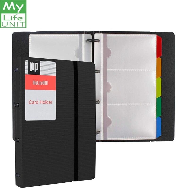 MYLIFEUNIT livre de cartes de visite 120 cartes nom carte organisateur livre avec cinq onglets dindex de couleur (noir)MYLIFEUNIT livre de cartes de visite 120 cartes nom carte organisateur livre avec cinq onglets dindex de couleur (noir)