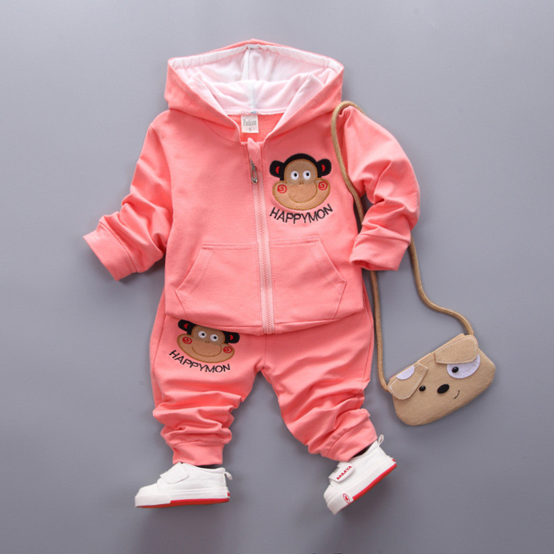 2pcs Baby Sets 2 Colors Cotton Autumn Spring Baby Clothing Set Girl Outfit Monkey Striped Newborn Boys Clothes Set 2 Colors SKB07 (10)