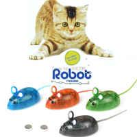 Katze Interaktive Spielzeug Elektronische Roboter Maus Spielzeug Für Katze Hund Spielen Spiel Kunststoff Tier Modell Für Kinder Lustige Spielzeug