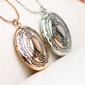 JENIA European Fashion Pattern Photo Locket Pendant Necklace for Women Gold Plated Gift Jewelry AN90