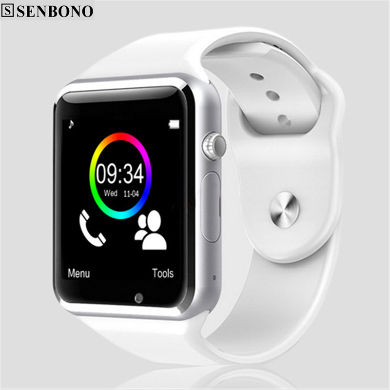 Image 4 - A1 WristWatch Free Shipping Bluetooth Smart Watch Sport Pedometer with SIM Camera Smartwatch For Android Smartphone Russia newSmart Watches   -