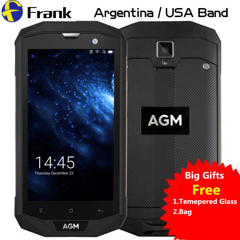 AGM A8 US Version IP68 Waterproof Phone 5 0 Inch Snapdragon Android 7 Quad Core 3GB