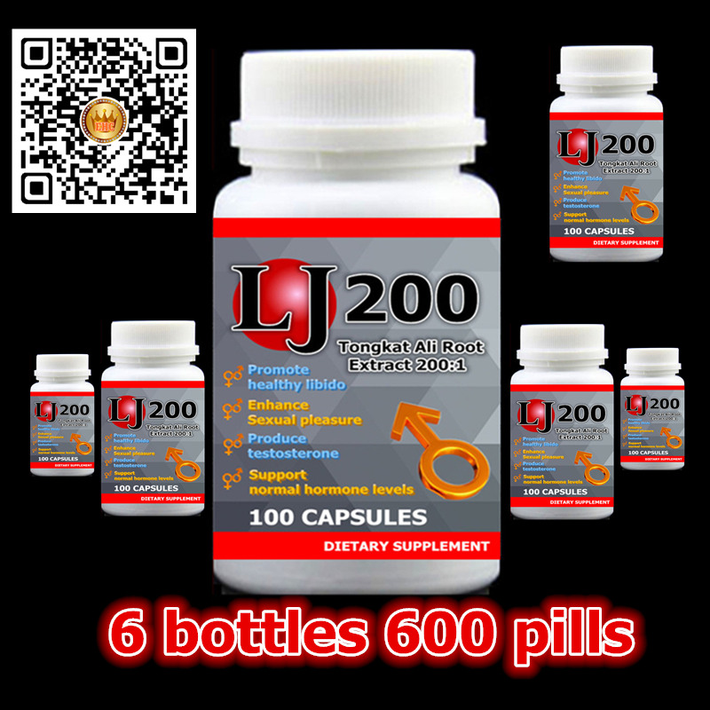 6bottles LJ200 Tongkat Ali Extract 200:1 Promote healthy libido Enhance Sexual pleasure for male Support hormone levels sex shop 200 1 tongkat ali strong prolonged erections plant viagra for men free shipping and tax