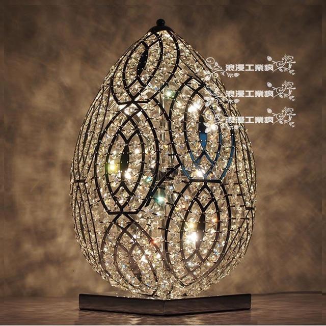 Modern K9 Crystal Table Lamp Home Bedroom Lampshade Art Decoration  Luminaire G9 * 6 220V Designer