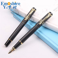 Creative Black Calligraphy Fountain Pen Office Fountain Pen Gift Metal Fountain Pen Custom Logo For Gifts