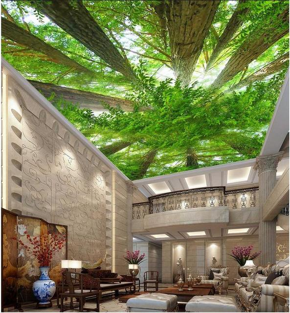 forest sky ceiling frescoes landscape wallpaper murals ceiling custom 3d wallpaper murals ceilings