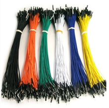 100pcs/lot New 1p to 1p 20cm random color male to female jumper wire Dupont cable for Arduino