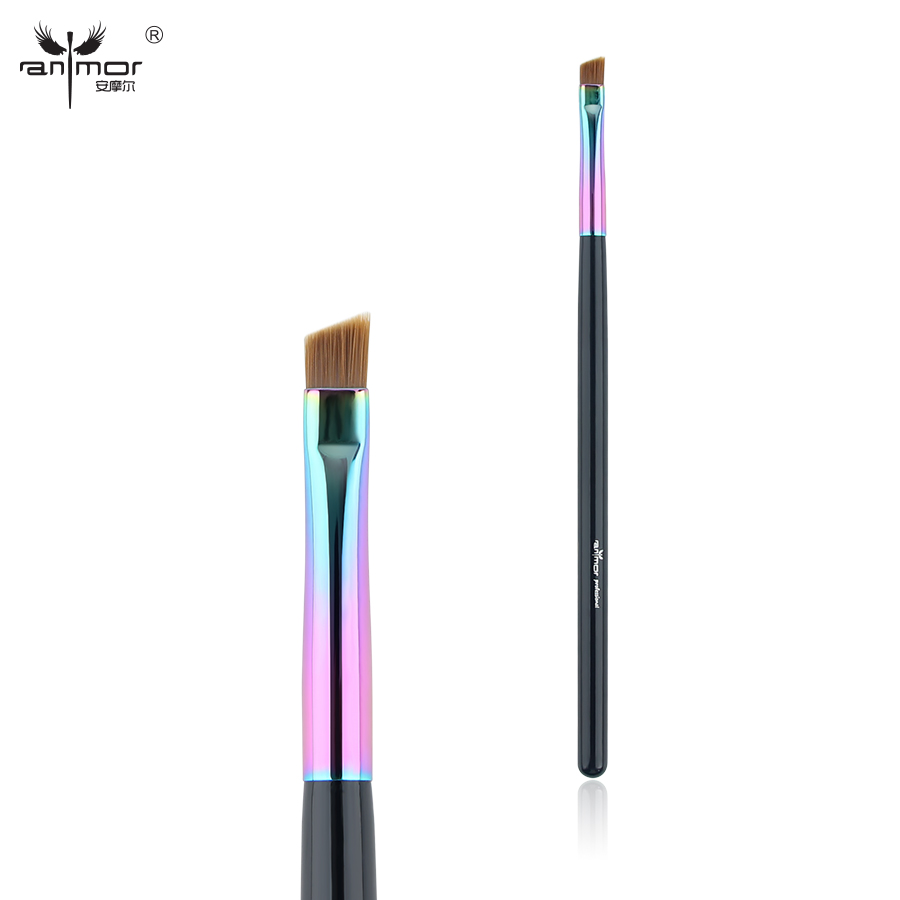 Anmor Synthetic Hair Angled Eyebrow Brush Professional Eyeliner Makeup Brushes CFCB-E06 7pcs makeup brushes professional fashion mermaid makeup brush synthetic hair eyebrow eyeliner blush cosmetic