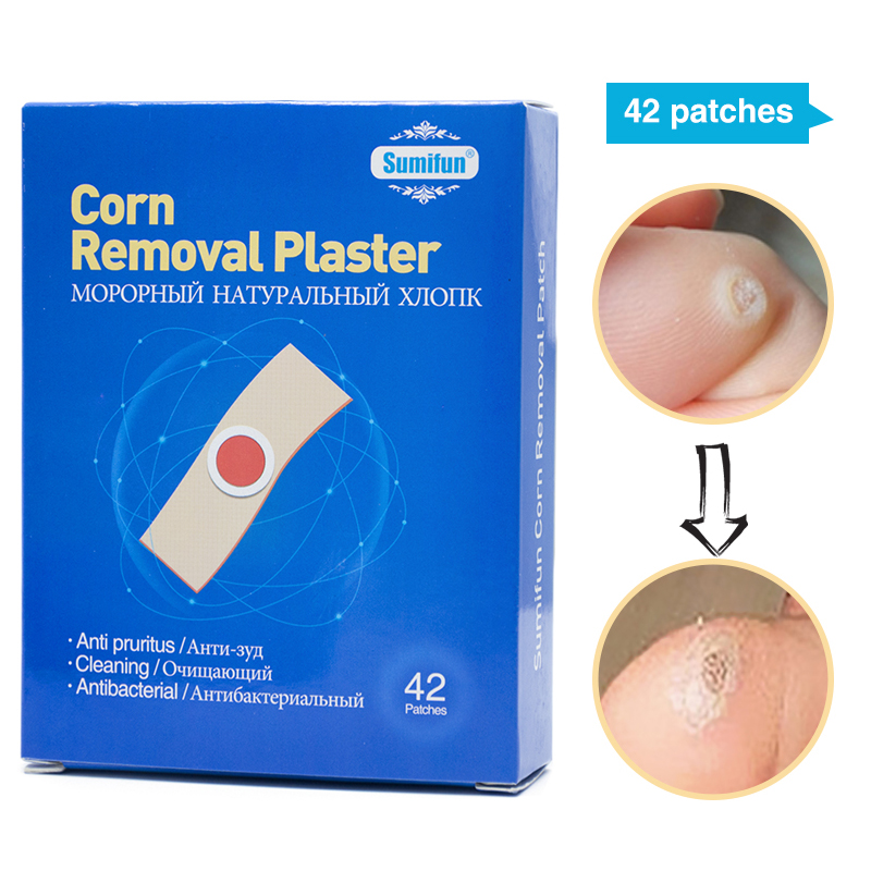 New 2019 42Pcs/Box Foot Corn Removal Plaster Warts Thorn Patch Feet Callus Remove Soften Skin Cutin Sticker Cure For Callus