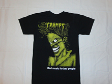 efbf4679f BLACK THE CRAMPS NEW T-SHIRT S-3XL BAD MUSIC PEOPLE PSYCHOBILLY PUNK ROCK  Personalized T Shirt Custom T Shirt Top Tee