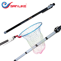 2018 Hot Selling Free Shipping Fishing Tackle Fishing Landing Net 3pcs Accessory Set For Fishing Carbon Fishing Rod