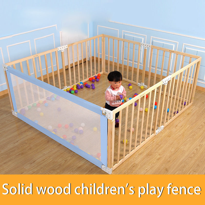Indoor Playground Safety Fence  Children's Game Fence Folding Baby Crawl Playpens Activity Play Yards Baby Wood Safety Fence
