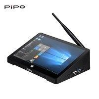 PiPO X8PRO Mini PC Dual OS Смарт ТВ коробка 64 бита 2 ГБ/32 ГБ Bluetooth 4,0 Wi Fi 100 м LAN 1080P HD медиаплеер ips Сенсорный экран ПК