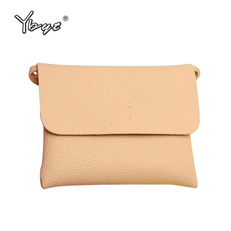 Ybyt новый бренд Искусственная кожа женщин клатч-конверт женский простой мини портмоне дамы плеча Crossbody сумки