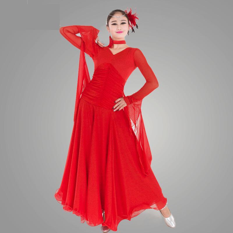 2018 nouvelle robe de danse de salle de bal dame moderne Lulu/jazz/tango/robe de danse de valse compétition/performance Costumes marins pour les femmes