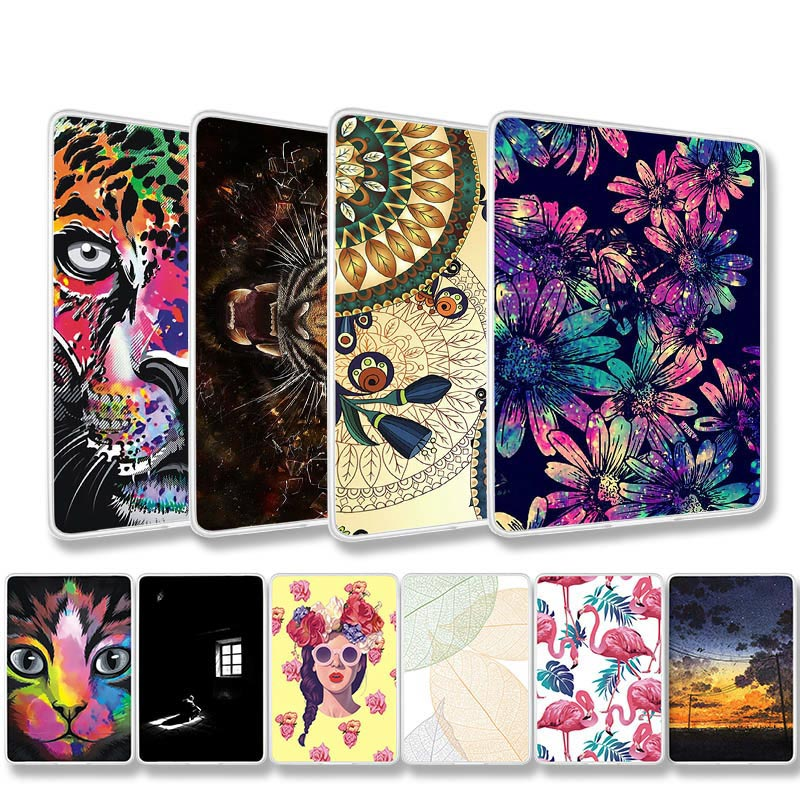 Silicone Table Case For Amazon Kindle Paperwhite 3 2 1 Soft TPU Pattern Table Bag Paperwhite 1 2 3 6.0 Inch Back Cover Shell