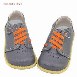 1a3ac38b2 COPODENIEVE Genuínos Meninos sapatos de couro sapatos de Couro menino  apartamentos Sapatos para a menina das