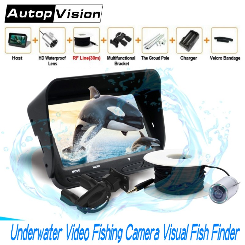 все цены на 4.3 inch LCD Monitor 2.0MP Lens Underwater Video Fishing Camera X3 6 LEDS IR Night Vision 30M Cable Visual Fish Finder System