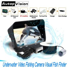 720P Underwater Fishing Camera 4.3 inch LCD Monitor 6 LEDS IR Night Vision Video Fish Finder 30M Cable Visible Fish Finder X3