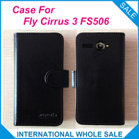 Hot 2016 Fly Cirrus 3 FS506 Case 6 Colors High Quality Leather Exclusive Case For Fly