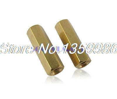 100Pcs <font><b>M3x25mm</b></font> Copper Column Female Stand-off Hexagonal Spacer M3 Thread Dia image