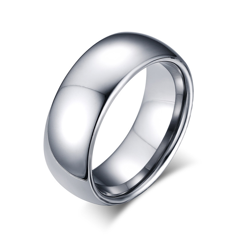Male Silver Ring Quality Steel Tungsten Carbide Ring Wedding