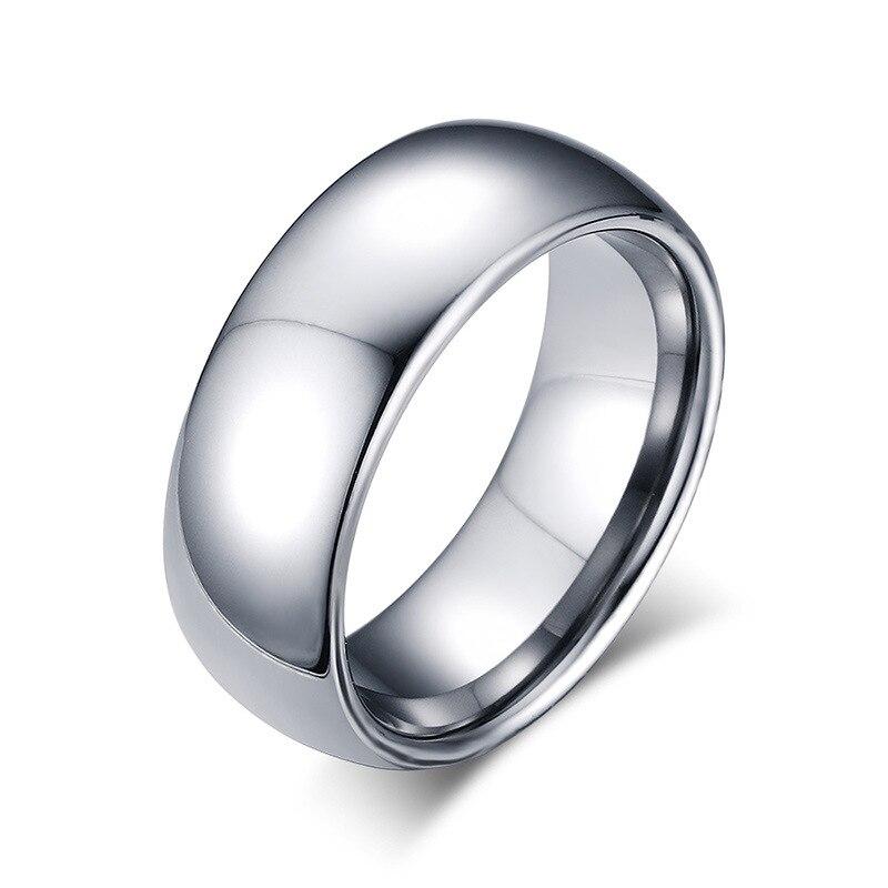 Silber Ring Mannlichen Qualitat Stahl Hartmetall Ring Hochzeit