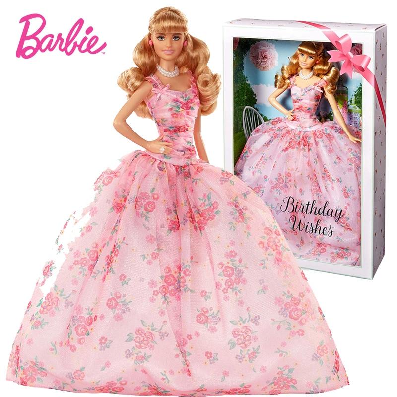 Oyuncaklar ve Hobi Ürünleri'ten Bebekler'de Barbie Orijinal Bebek Yeni doğum günü dilekleri Koleksiyonu FXC76 Kız Prenses Oyuncaklar Koleksiyonu Için arkadaşlar mevcut çocuk bebek'da  Grup 1