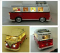 Lepin 21001 the T1 Camper Van Model Building Blocks with led light kit  Compatible legoed 10220 Technic car Toys wiht led lig