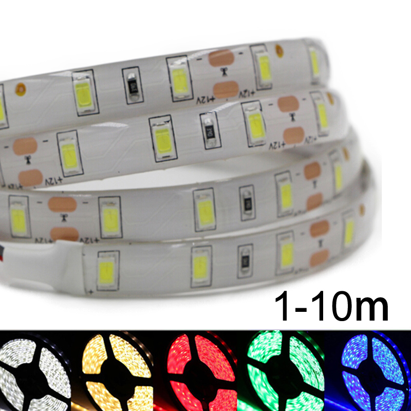 DC12V 5630 5730 SMD led strip light flexible Fita Diode tape lamp non/ip65 Waterproof 60led/M string bulb lamp 1m 2m 3m 5m 10m 1m 2m 3m 4m 5m led strip smd 5630 120leds m non waterproof flexible 5m 600 led tape 5730 dc12v tape rope lamp light