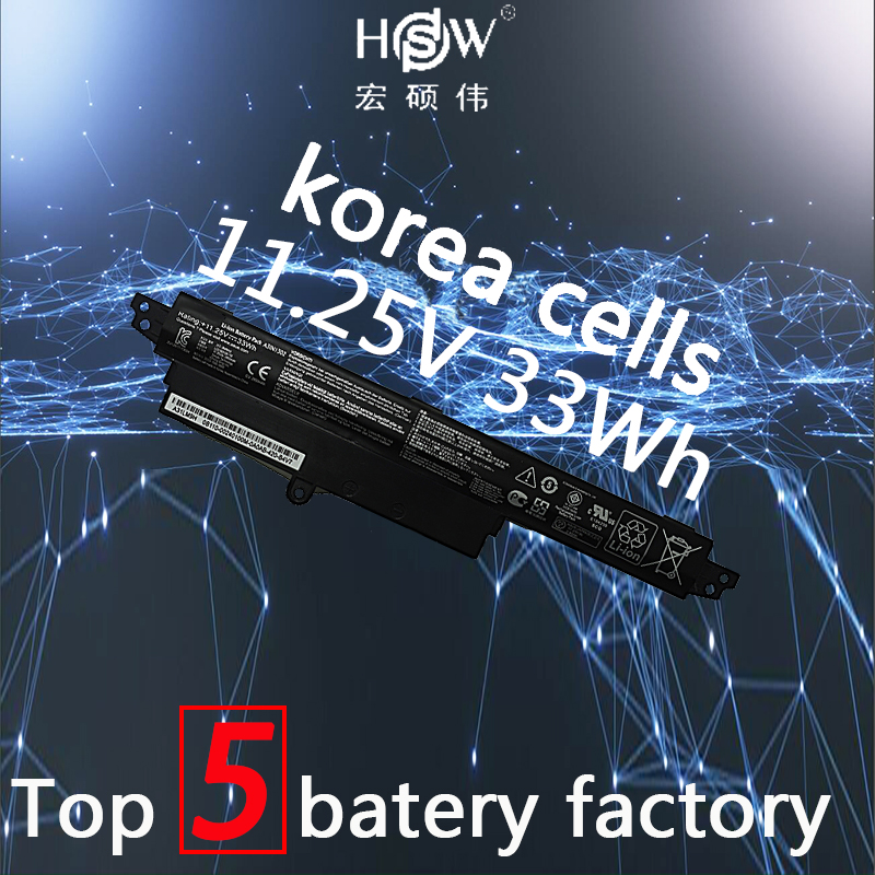 HSW 11.25V 33WH A31N1302 Battery For ASUS VivoBook X200CA X200MA X200M X200LA F200CA 200CA 11.6 A31LMH2 A31LM9H jigu 2600mah laptop battery a31lmh2 a31n1302 for asus vivobook f200ca vivobook f200m vivobook f201e kx063h vivobook f200ma