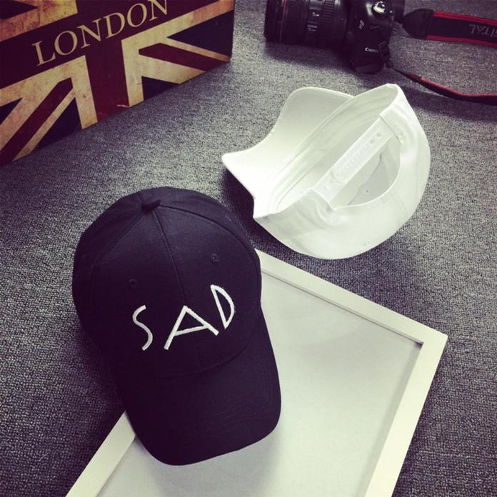 Unisex Cotton Embroidery Letter SAD Baseball Cap Snapback Caps Bone Hat  Distressed Wearing Style SunHat Dec13-in Baseball Caps from Apparel  Accessories on ... e37d2bd99eab