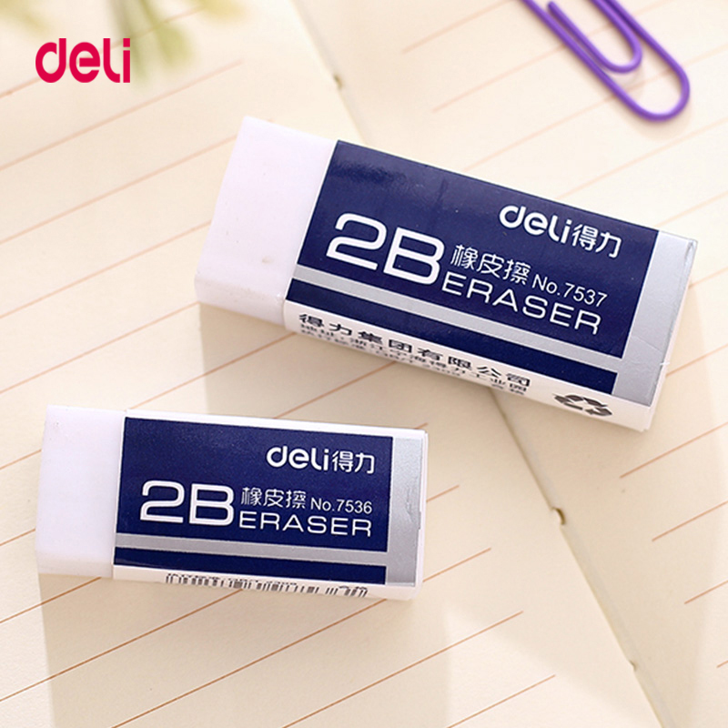 Deli 1Pcs School Supplies Pencil Eraser Gifts School Office Correction Supplies Erasers Rubber For Kids