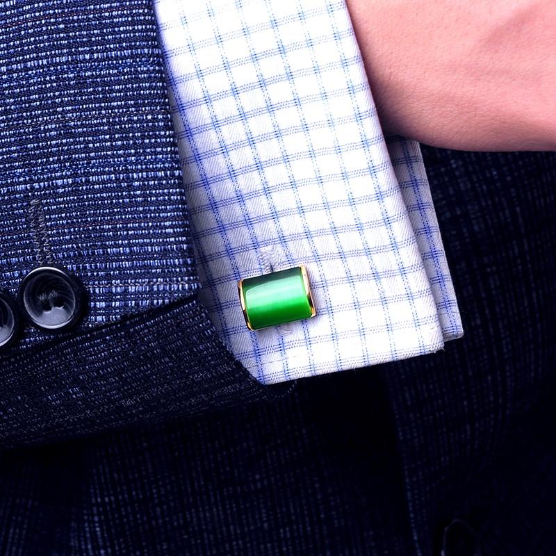 KFLK Schmuck Shirt Manschettenknopf für Herren Brand Green Cuff Link - Modeschmuck - Foto 4