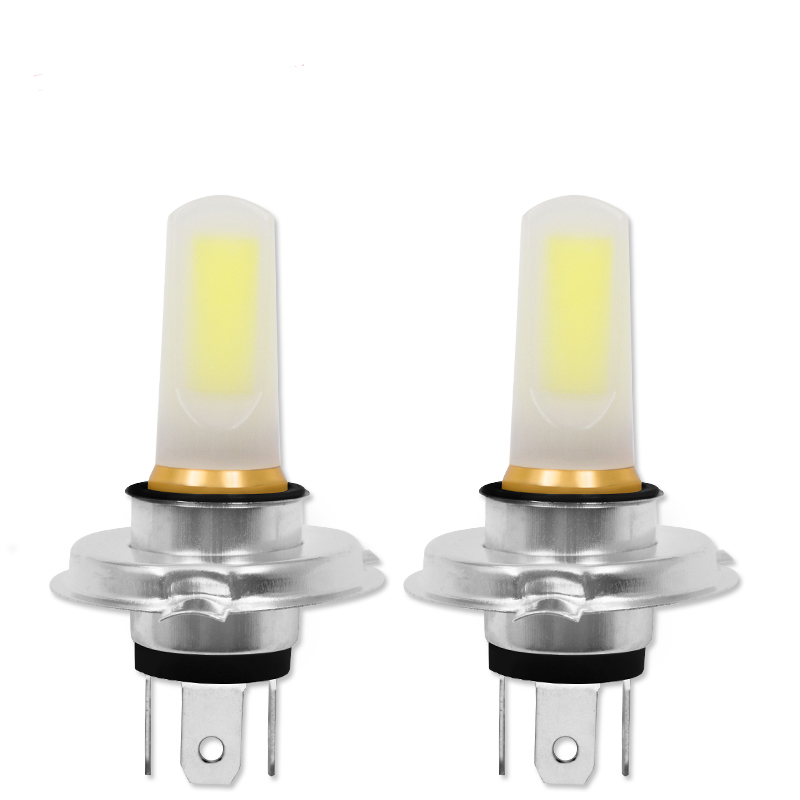 2pcs Hot H4 Car LED COB Super Bright Car Light Source Headlight Running Lights Bulb Lampada Led Carro LED 12V
