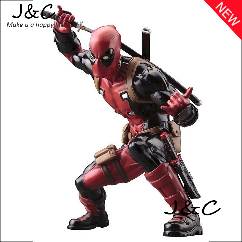 Free Shipping NEW hot ! 16cm Super hero Justice League X-MAN Deadpool Action Figure Toys Christmas Toys With Original BOX free shipping cool big 12 justice league of america jla super man superman movie man of steel pvc action figure collection toy