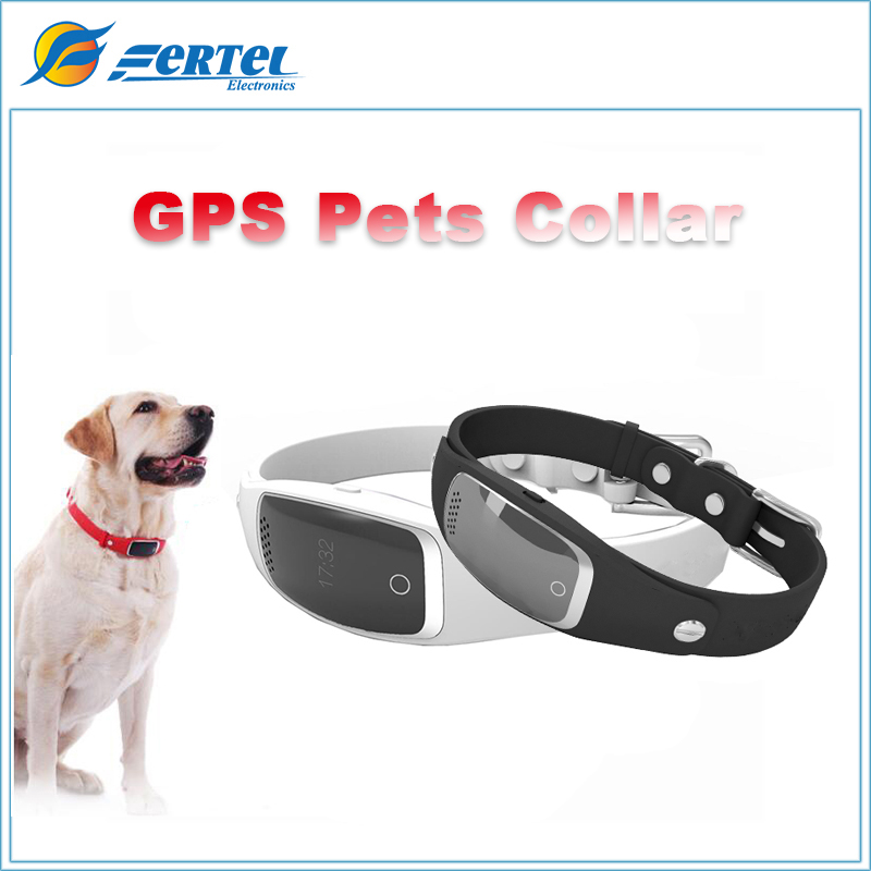 Mini Waterproof Silicon Pets Collar GPS Smart Activity Tracker Real Time GPS+LBS