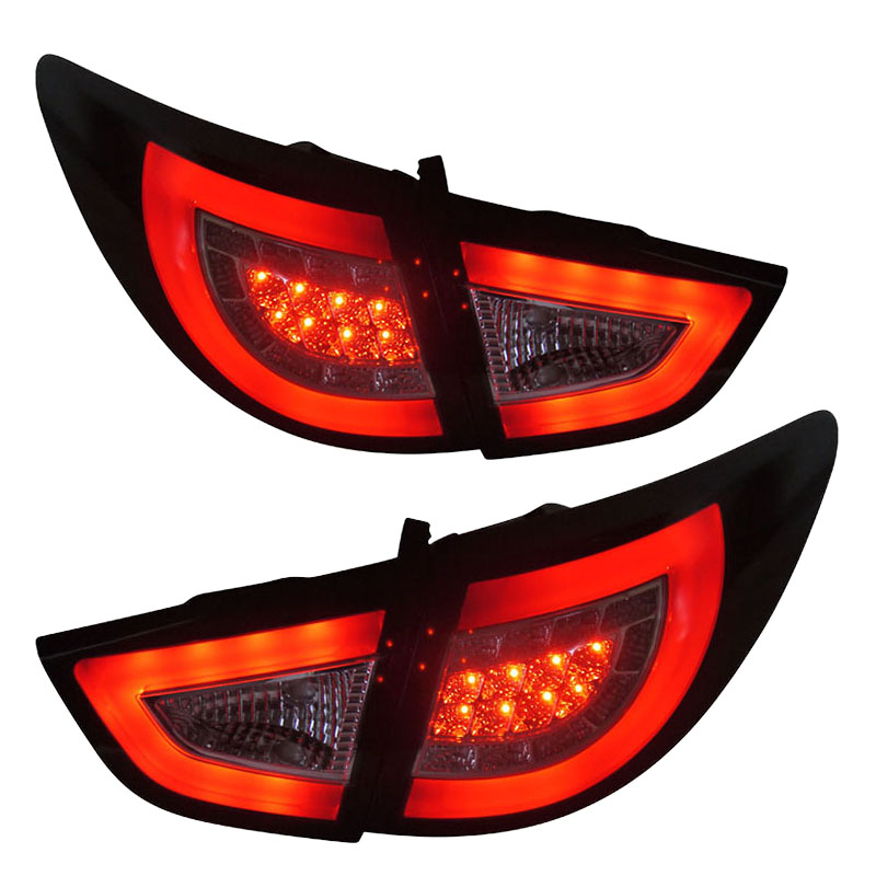for Hyundai IX35 LED rear lights Black with Red bar Ensure high quality & fitment fit 2010-2013 year cars high quality 12v gy6 35 led lights gy6 35 lights led g6 35 bulb g6 led free shipping 2pcs lot