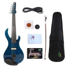 Yinfente 5 Строка Электрический скрипки 4/4 красивый тембр Бесплатная чехол + лук кабель # E20