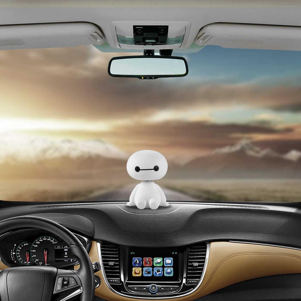 Мультфильм пластик робот Baymax качающейся головой Рисунок автомобиля украшения авто интерьера Большой Герой куклы игрушечные лошадки орнамент