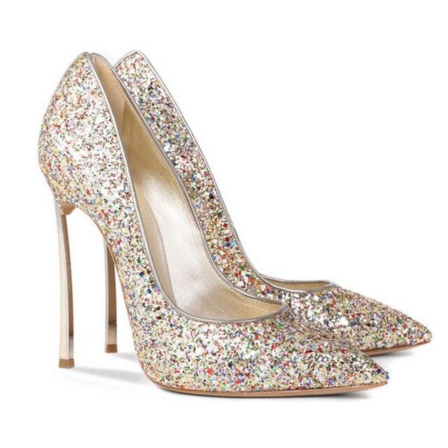 Favori Designer de luxe 2017 Glitter Bling Bling Chaussures Femme Grande  TS06