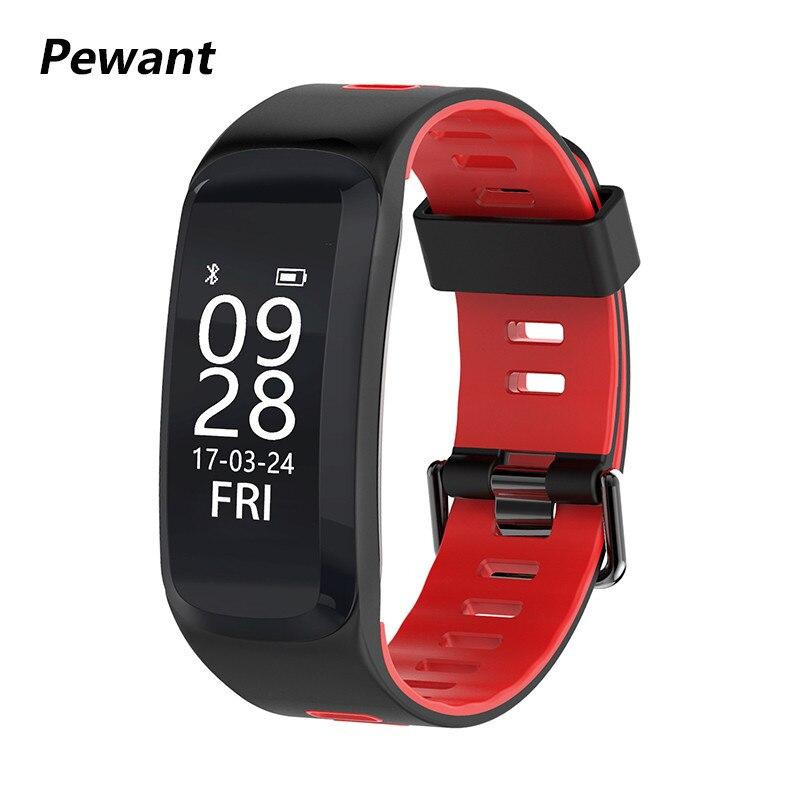Nouveau Pewant Bracelet À Puce Avec GPS Moniteur de Fréquence Cardiaque Fitness Bracelet Support Multi-sport Mode Smart Bracelet Pour iOS android