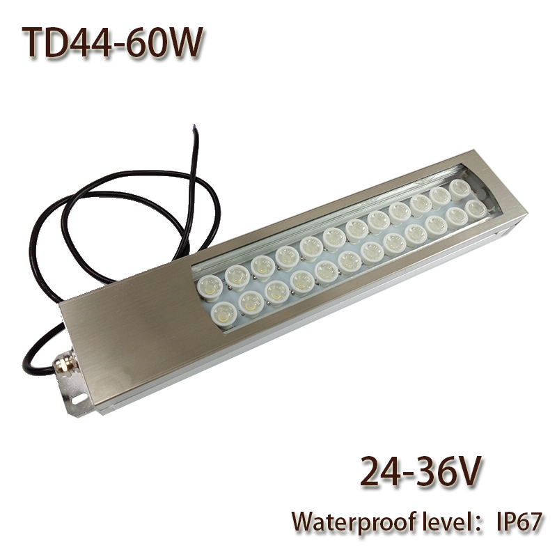 HNTD 60W Led Panel Light DC 24V/36V/48V Concentrating Metal LED Work Light TD44 CNC Machine Work Tool Lighting Waterproof IP67