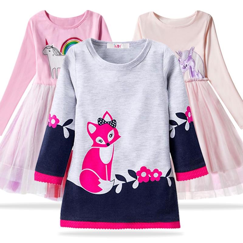 2019 Spring Kids Dresses For Girls Long Sleeve Party Dress Children Easter Carnival Costume For Toddler Girls Princess Dress